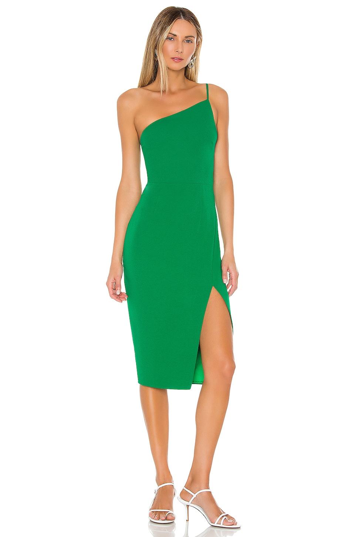 Lovers + Friends Lazo Midi Dress in Green