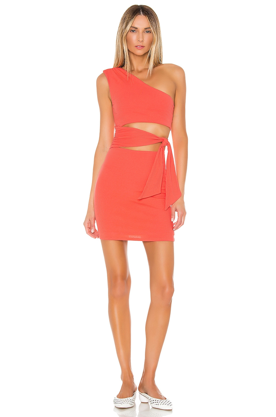 Lovers + Friends Alexander Dress in Coral