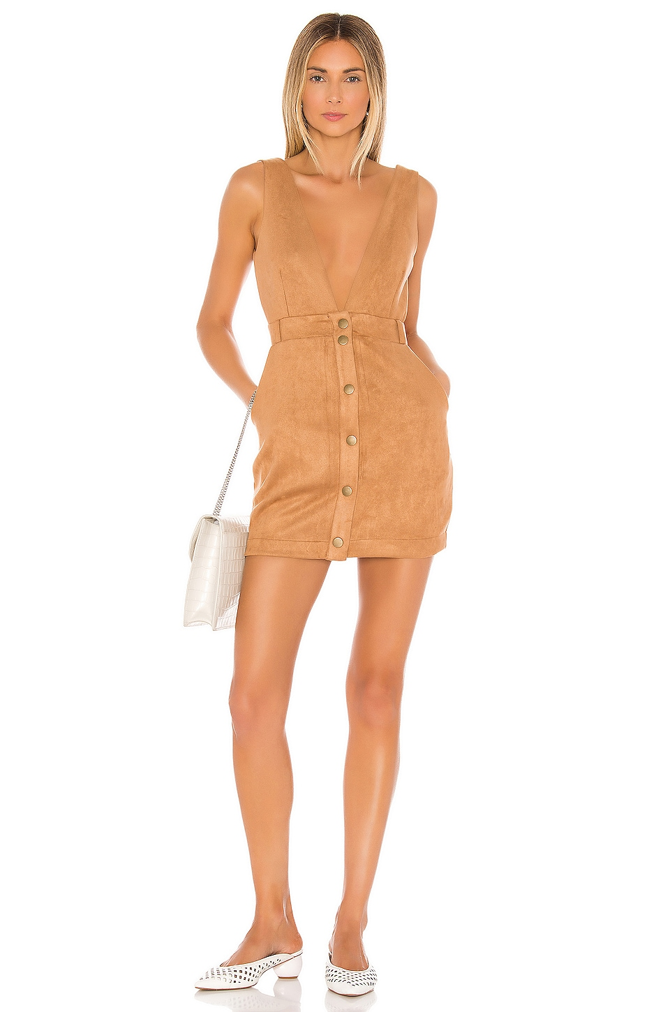 Lovers + Friends Zayden Mini Dress in Camel