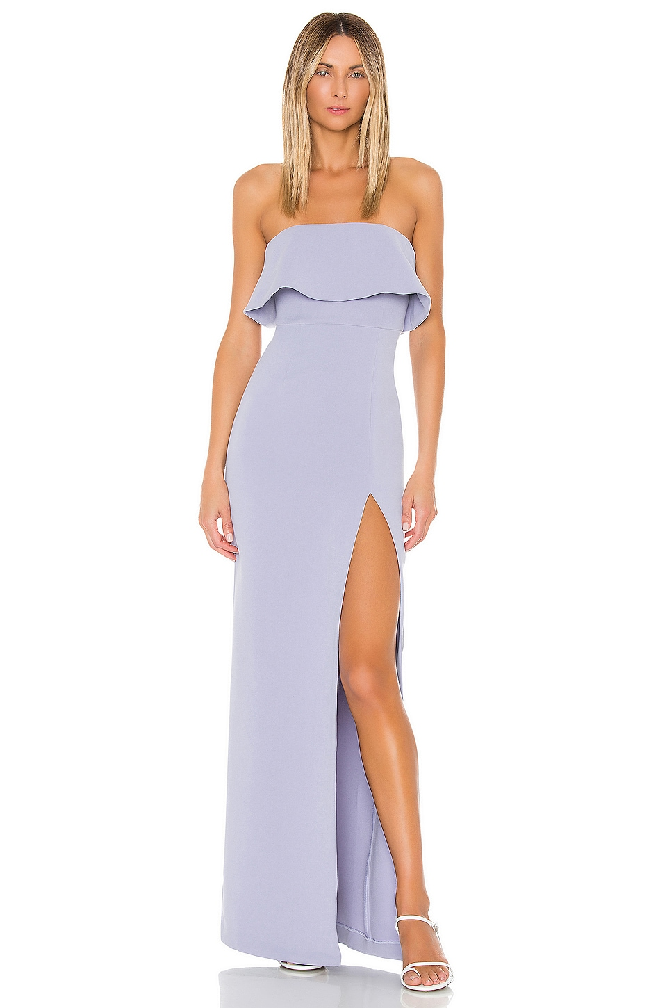 Lovers + Friends Tayshia Gown in Periwinkle