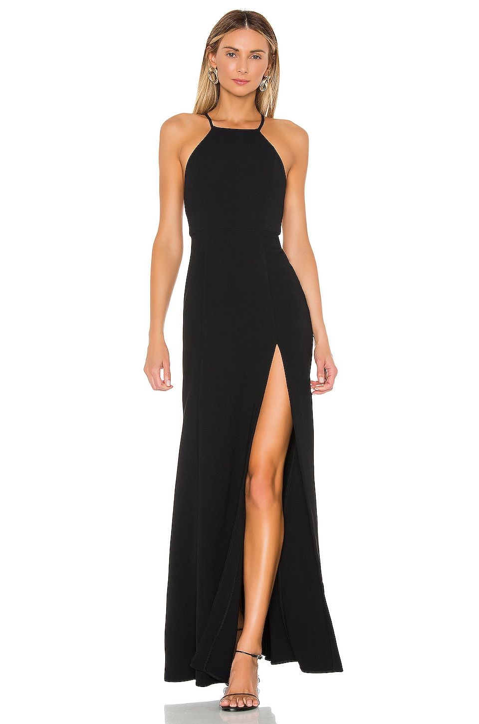 Lovers + Friends Xenon Gown in Black