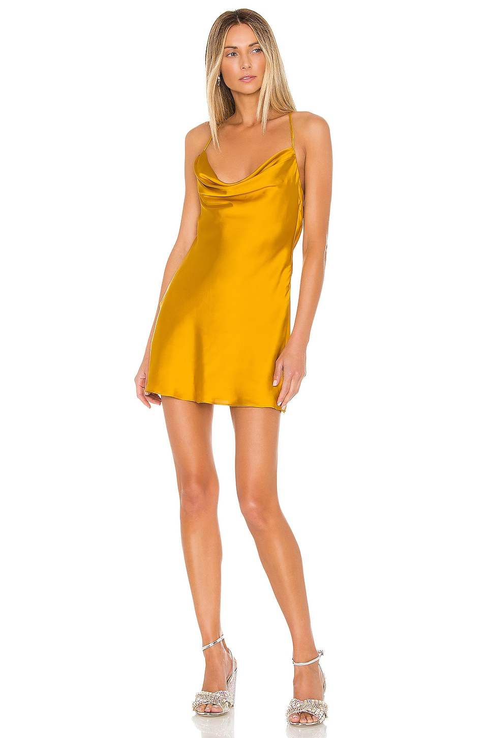 Lovers + Friends Boa Mini Dress in Sunflower Yellow