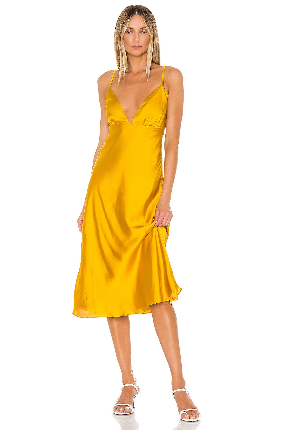 Lovers + Friends Winslet Midi Dress in Sunflower Yellow