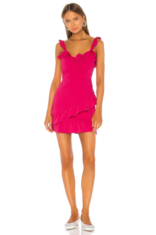Lovers + Friends Nicolette dress in Hot Pink