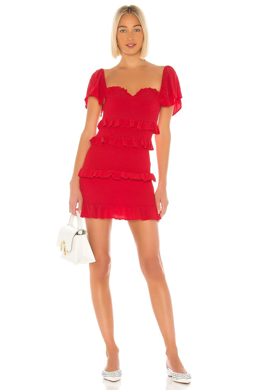 Lovers + Friends Kace Mini Dress in Red