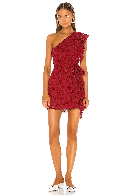 Lovers + Friends Seana Mini Dress in Deep Red