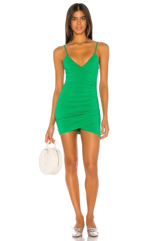 Lovers + Friends Emilia Mini Dress in Kelly Green
