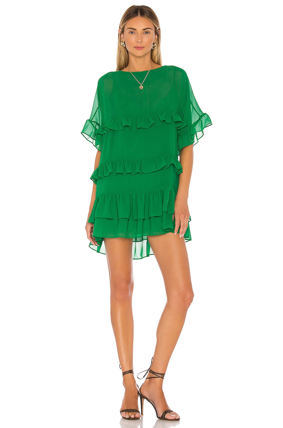 Lovers + Friends Mona Mini Dress in Viridian Green