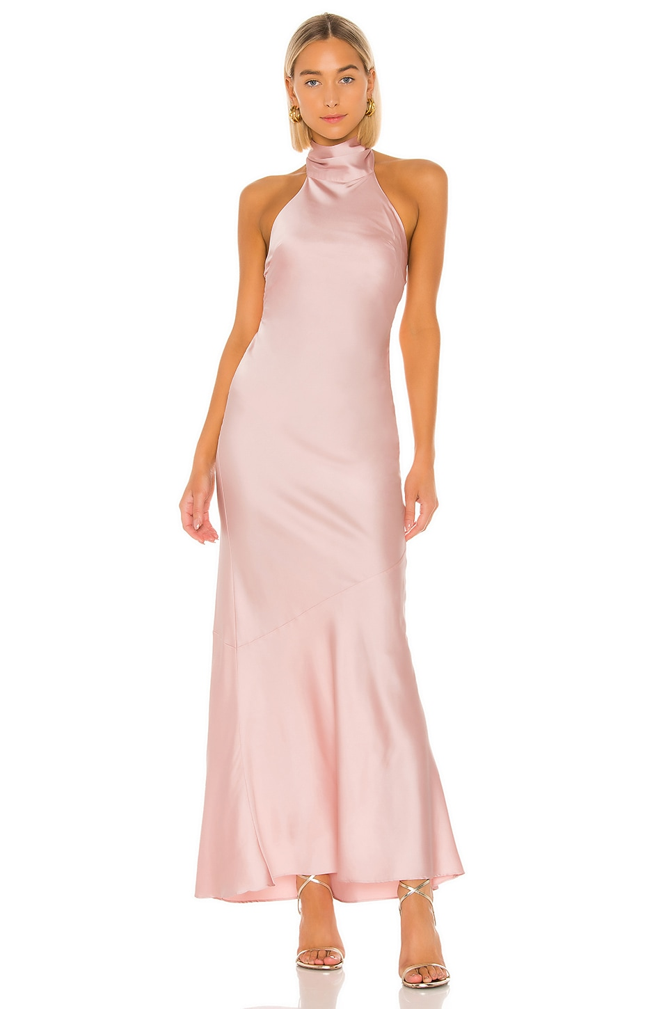 Lovers + Friends Claudia Gown in Party Pink
