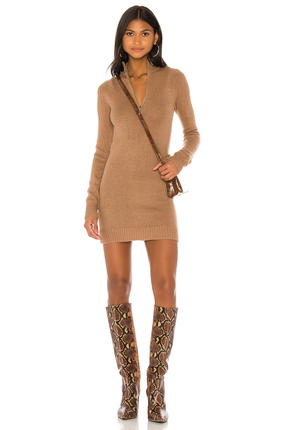 Lovers + Friends Anthea Sweater Dress in Camel