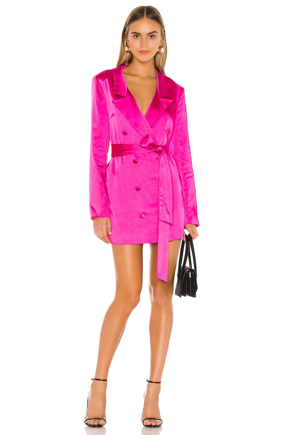 Lovers + Friends Kimber Blazer Dress in Magenta Pink