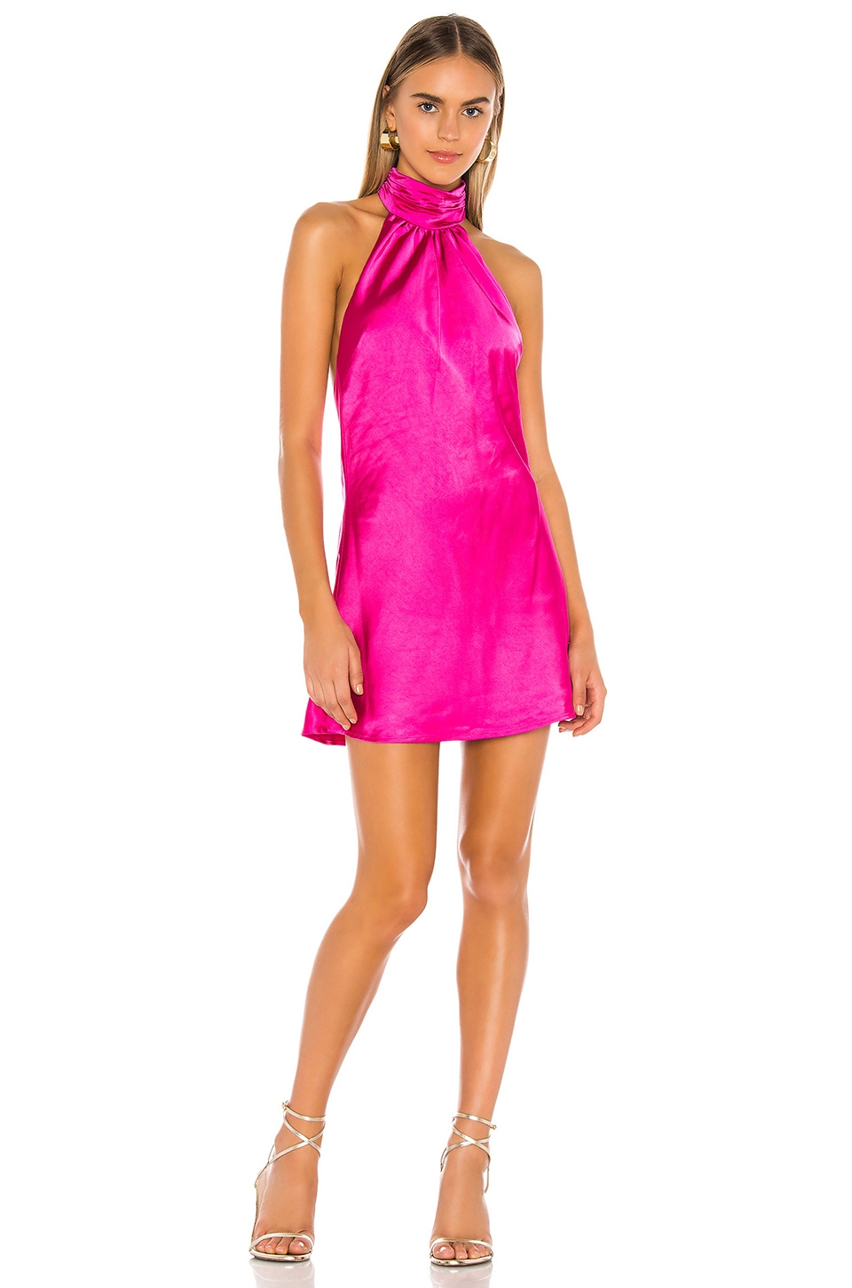 Lovers + Friends Hayes Mini Dress in Magenta Pink
