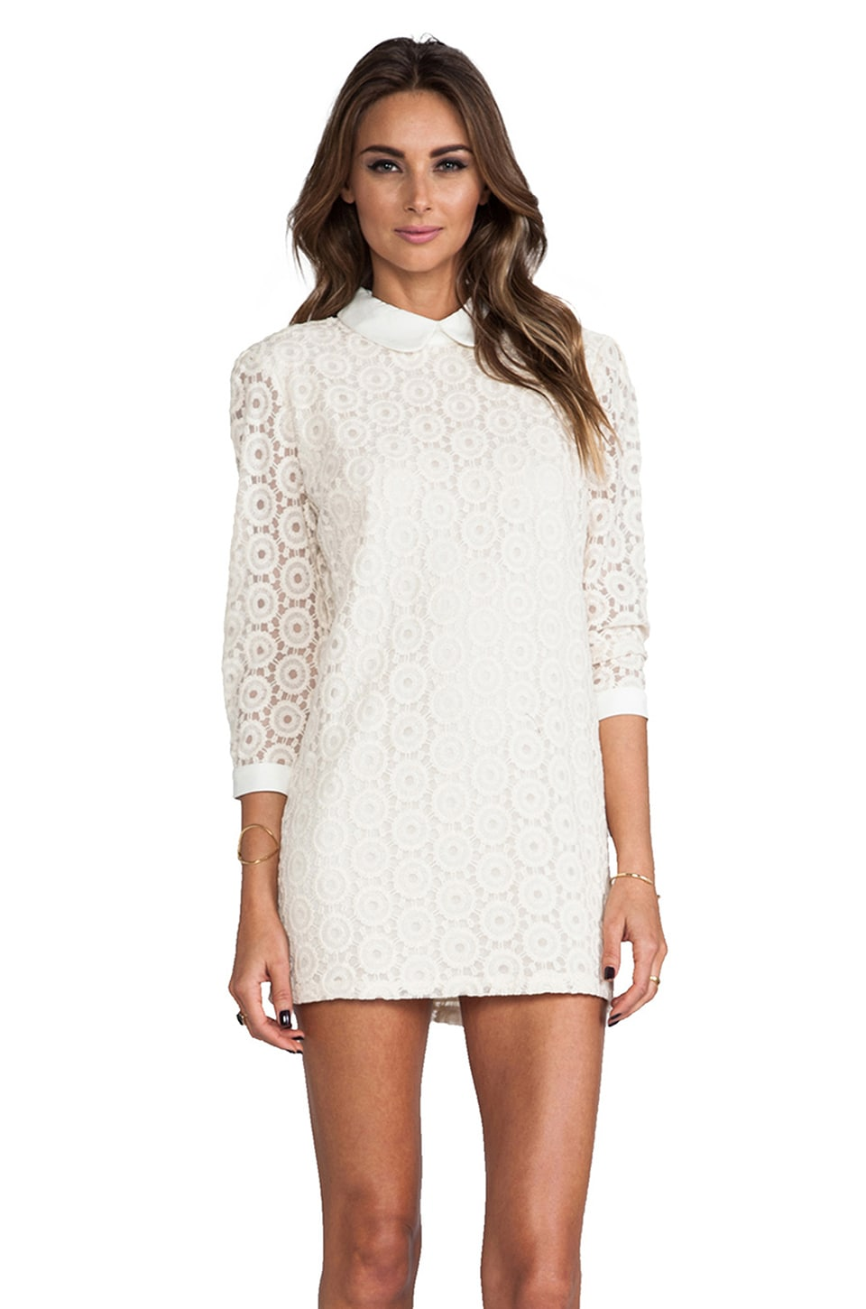 Lovers + Friends x Monica Rose Rosita Dress in Bone Lace