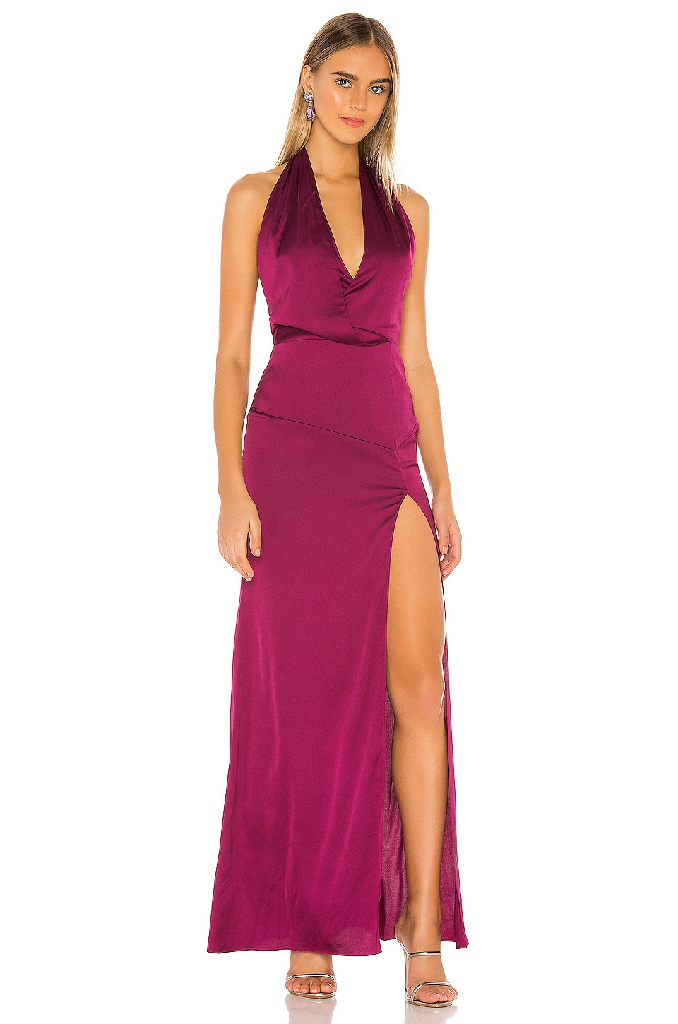 Lovers + Friends Andrea Gown in Violet Shiraz
