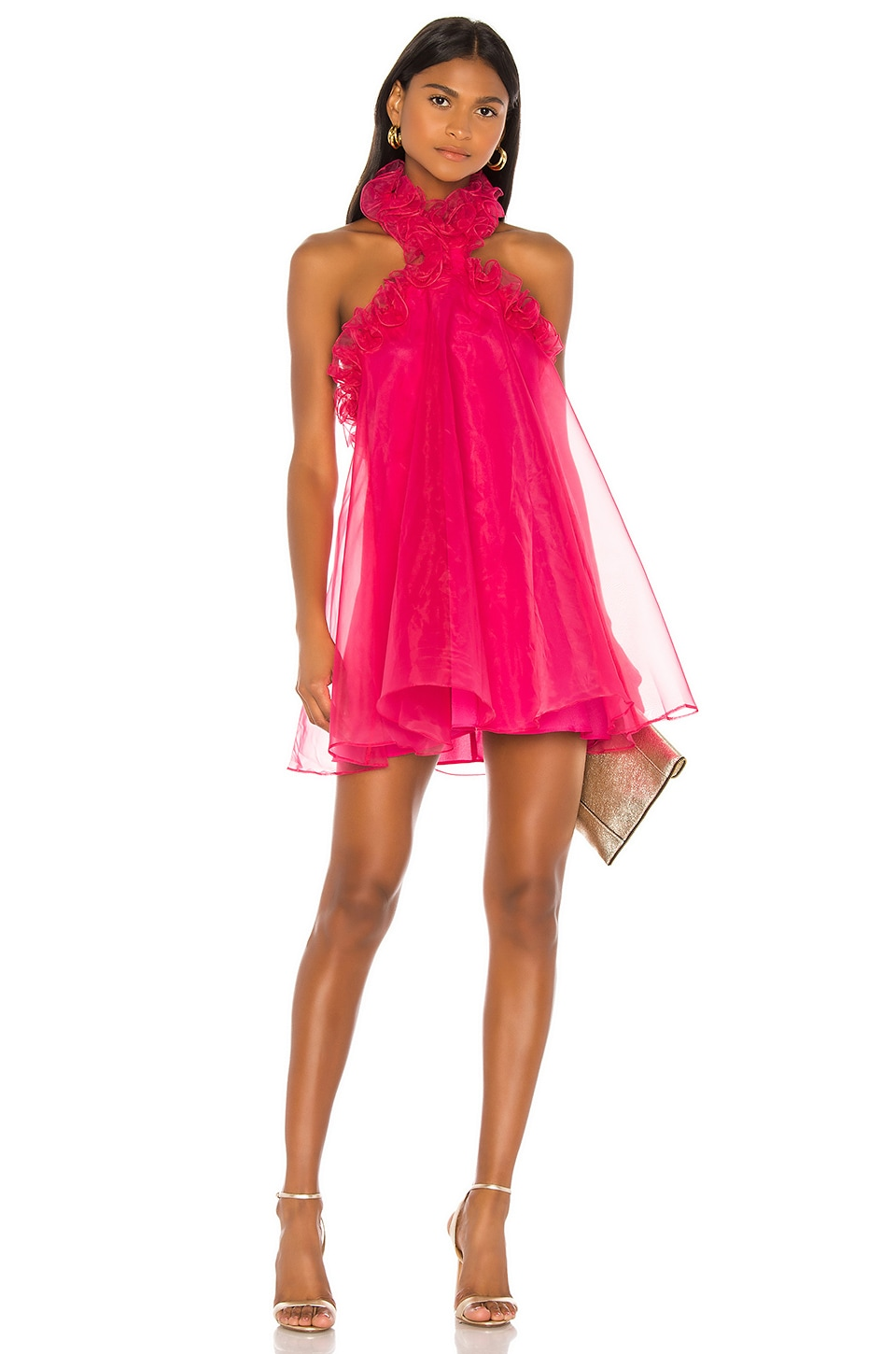 Lovers + Friends Capri Mini Dress in Hot Pink