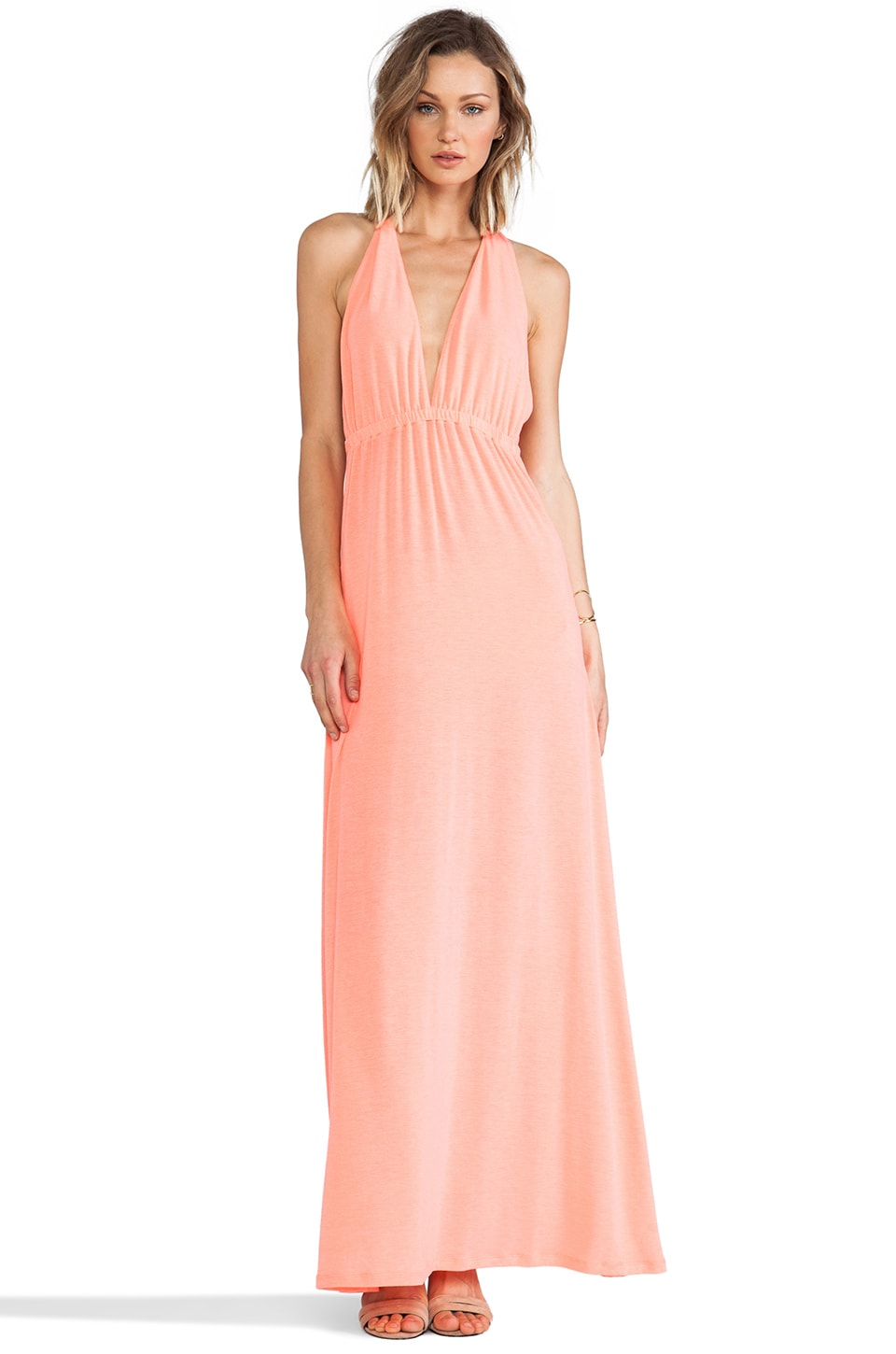 Lovers + Friends Tristan Maxi Dress in Neon Pink