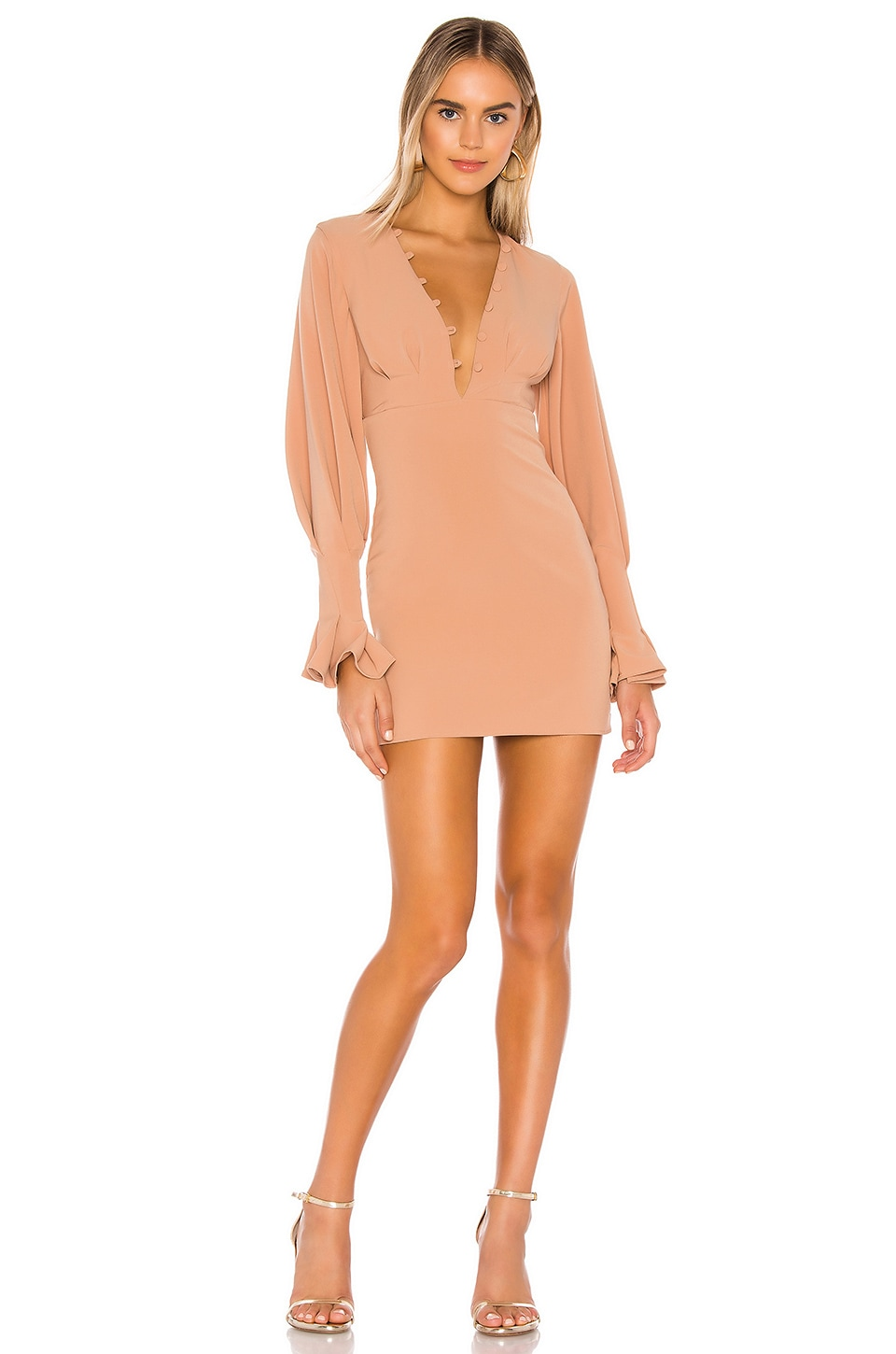 Lovers + Friends Elena Mini Dress in Neutral