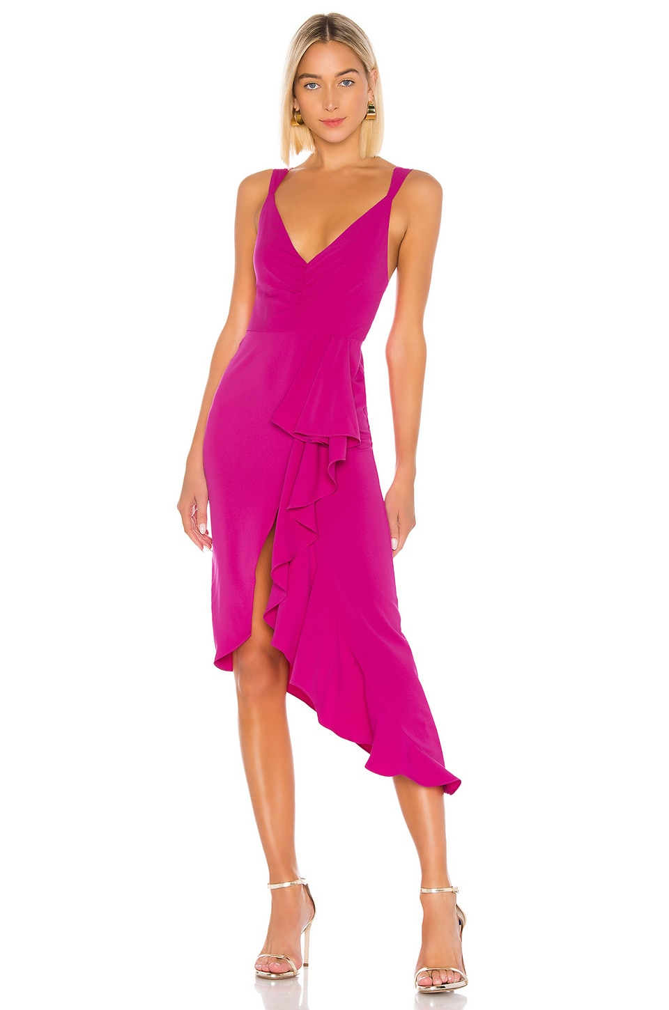 Lovers + Friends Claire Dress in Very Berry
