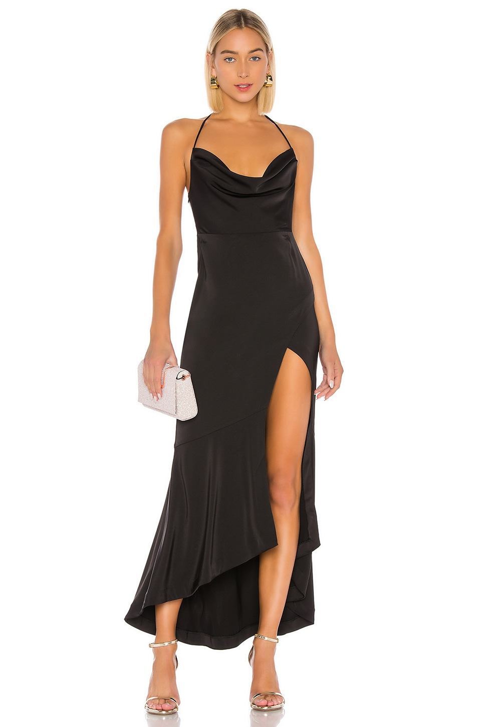 Lovers + Friends West Gown in Black