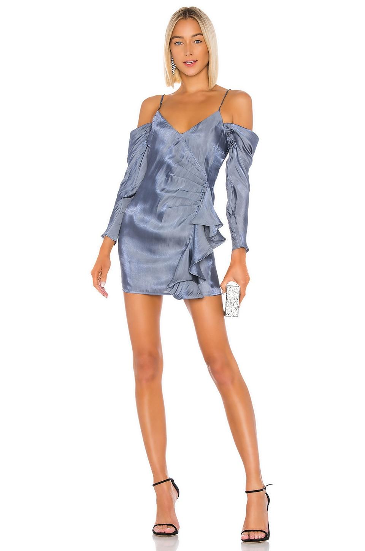 Lovers + Friends Gia Mini Dress in Slate Blue