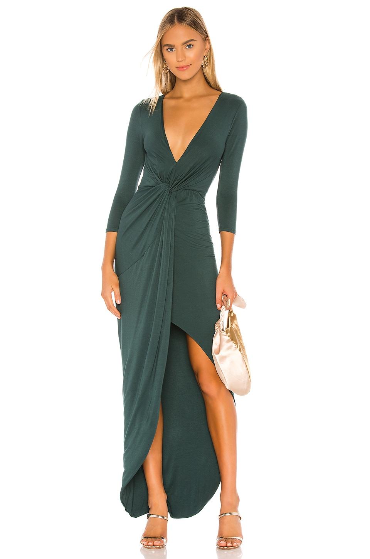 Lovers + Friends Sundance Maxi Dress in Everglade Green