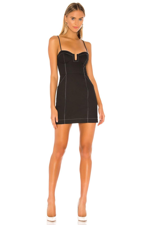 Lovers + Friends Tilden Mini Dress in Ebony Black