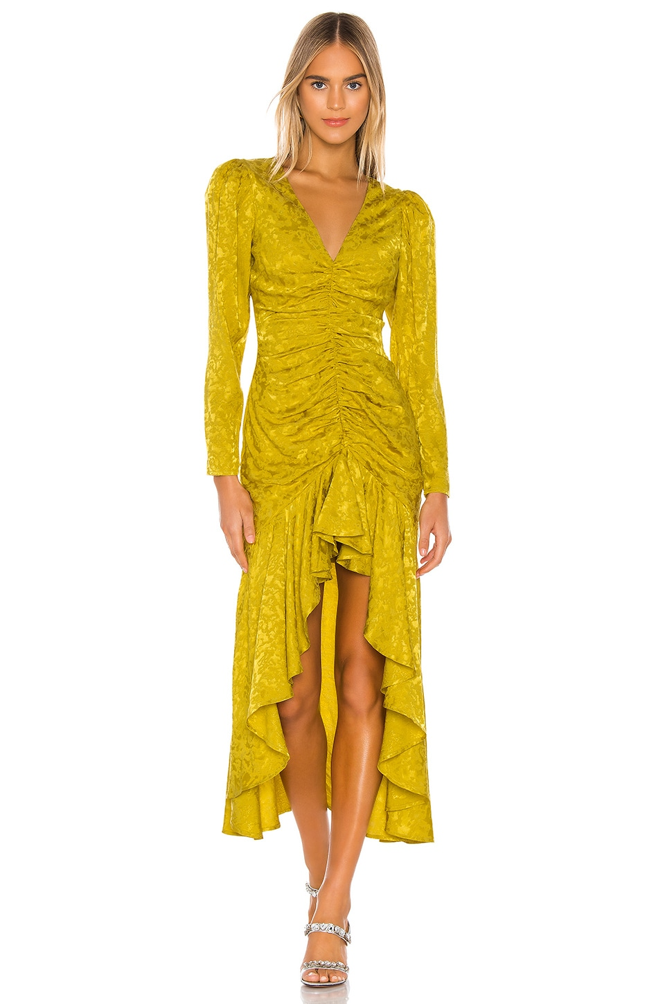 Lovers + Friends Cairo Dress in Citron Green
