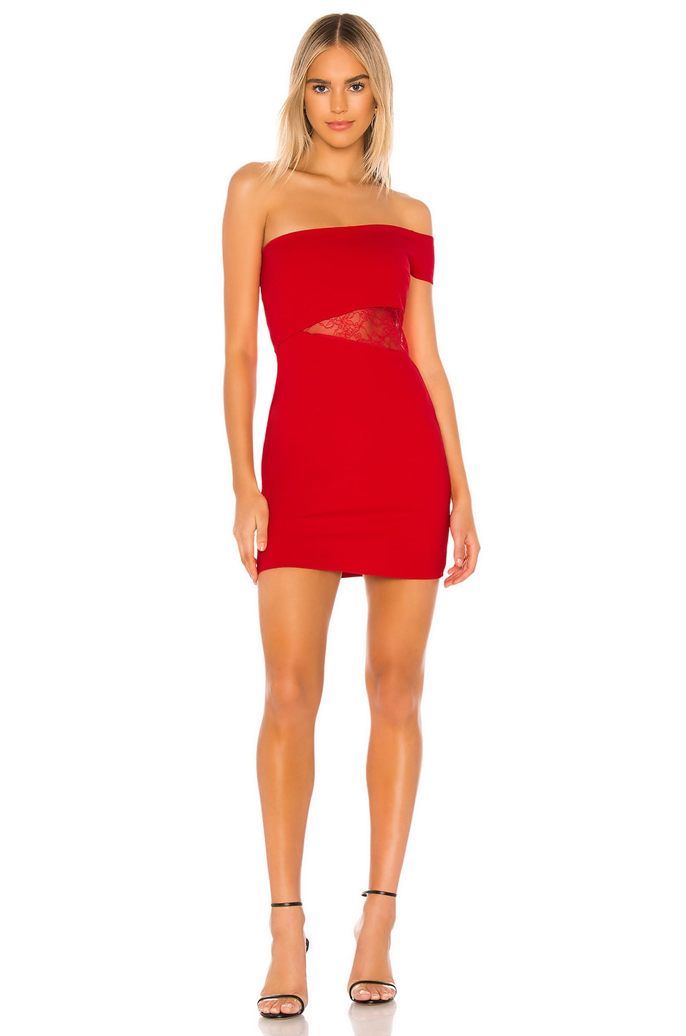 Lovers + Friends Duncan Mini Dress in Cherry Red