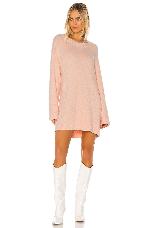 Lovers + Friends Montley Sweater Dress in Blush