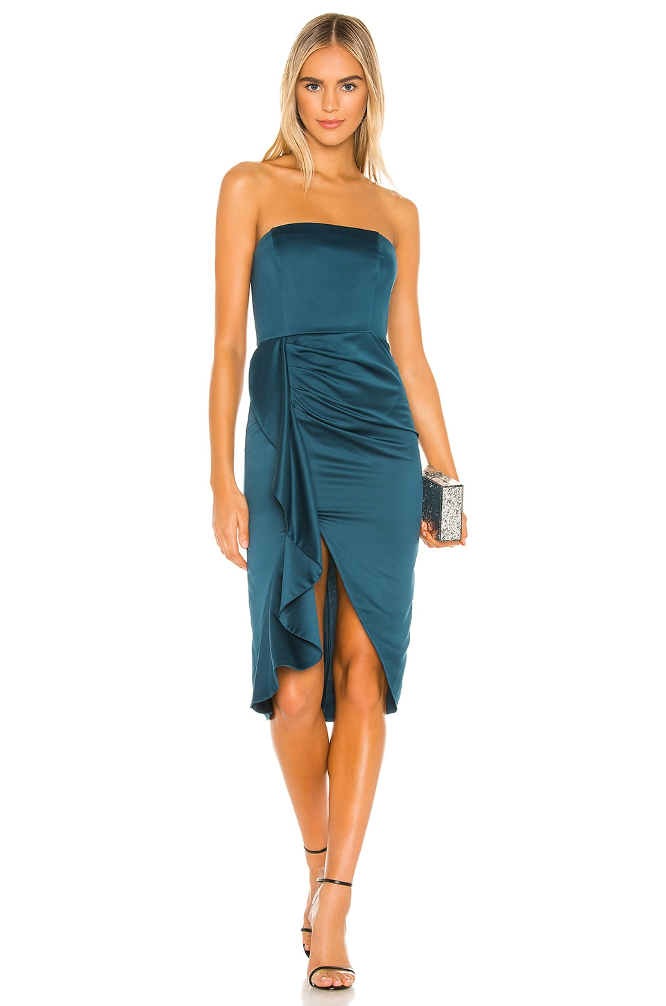 Lovers + Friends Melina Midi in Deep Teal