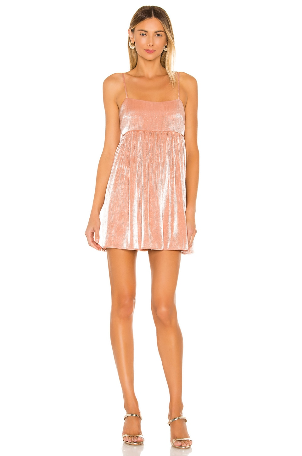 Lovers + Friends Davina Mini Dress in Peach Pink