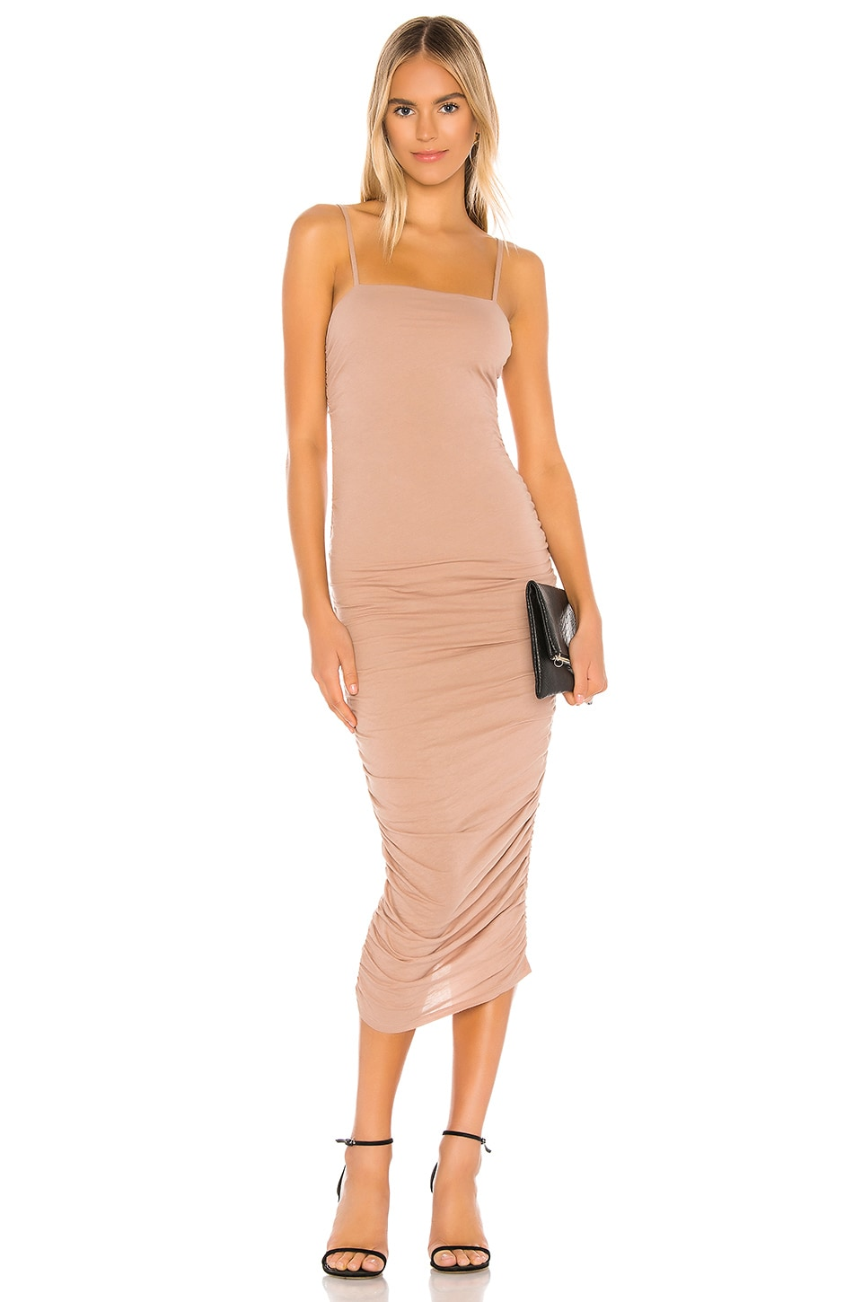 Lovers + Friends Kori Midi Dress in Nude