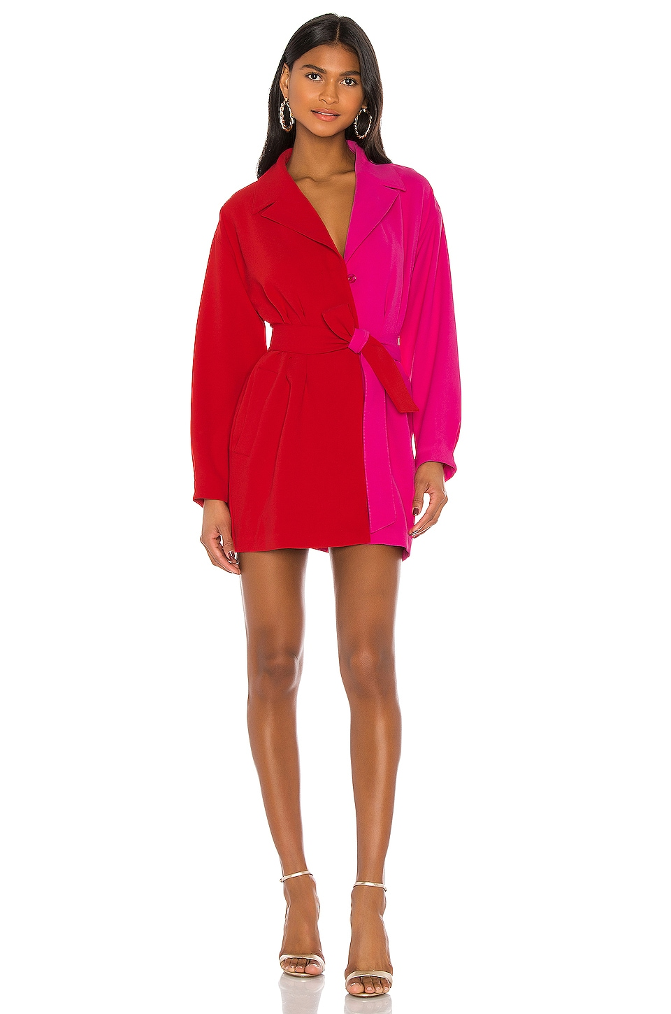 Lovers + Friends The Biccel Mini Dress in Red & Pink