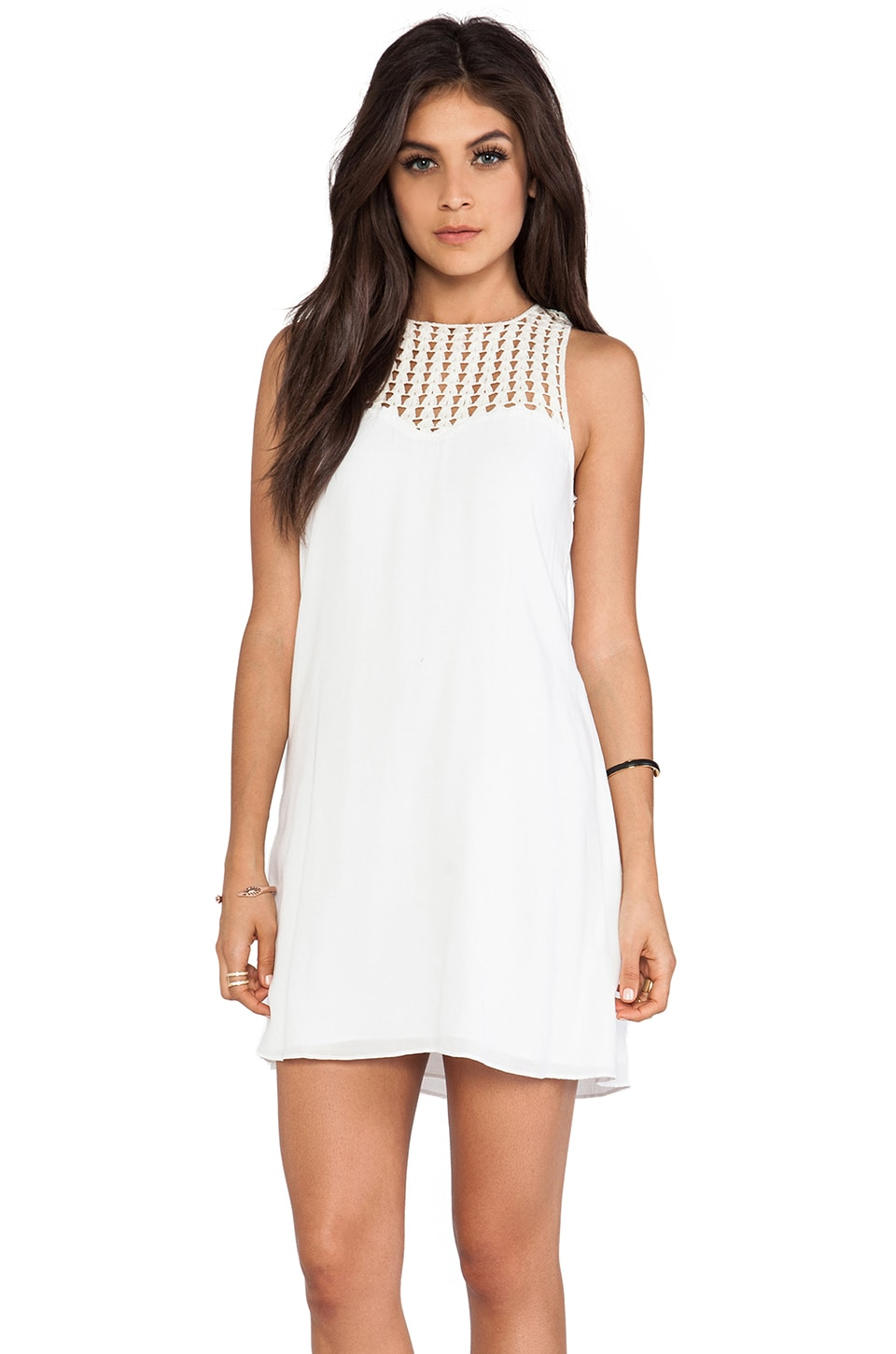 Lovers + Friends Plumeria Dress in White