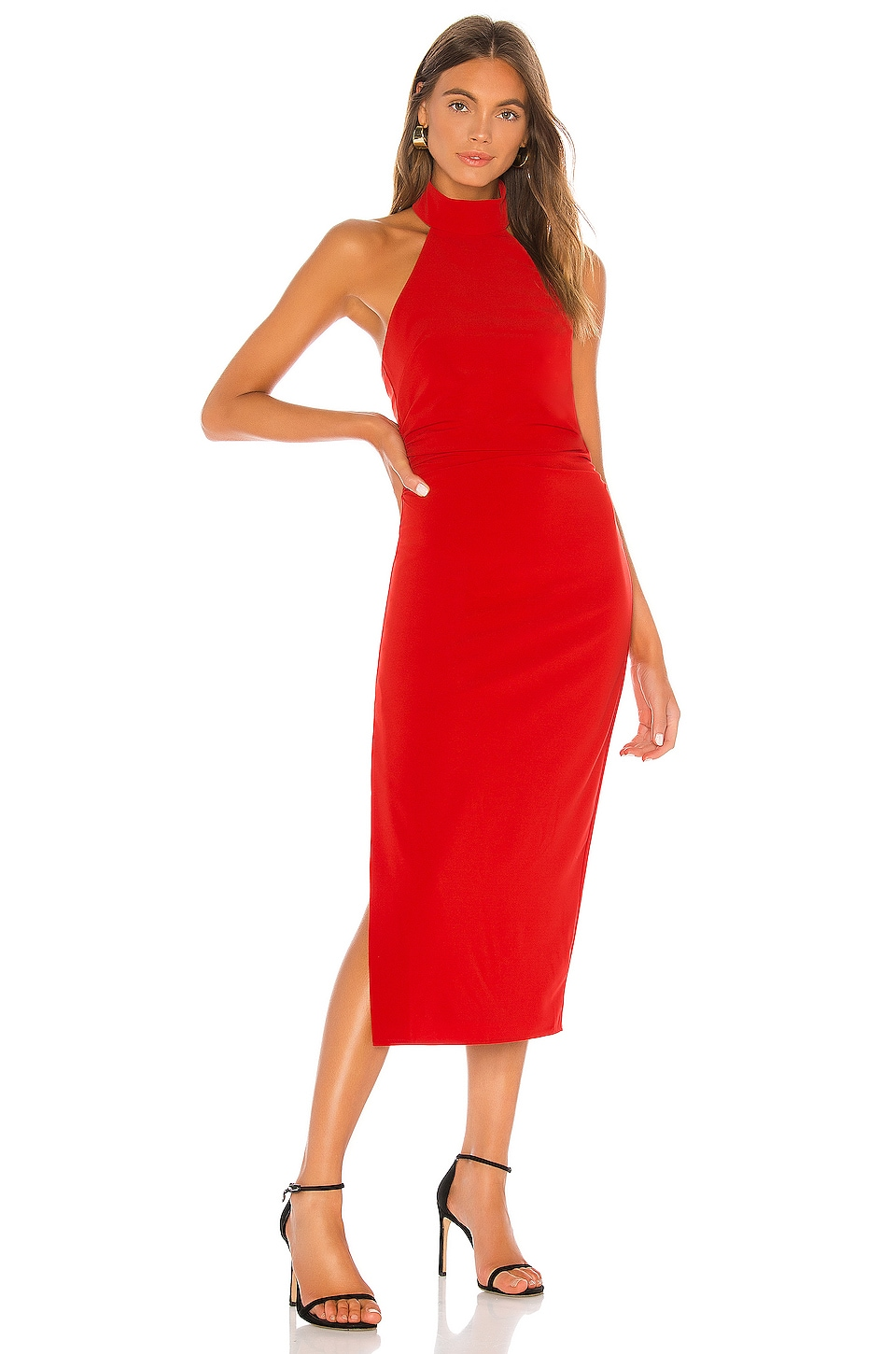 Lovers + Friends Napa Midi Dress in Red