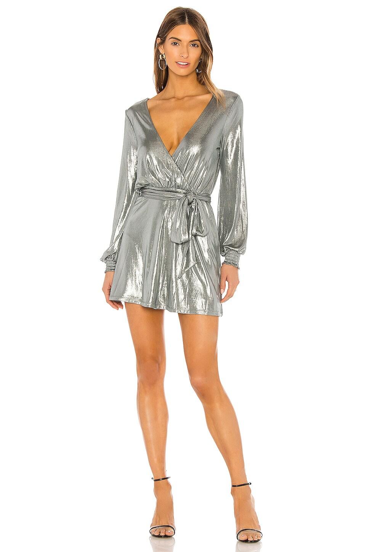 Lovers + Friends Angelika Mini Dress in Silver Metallic