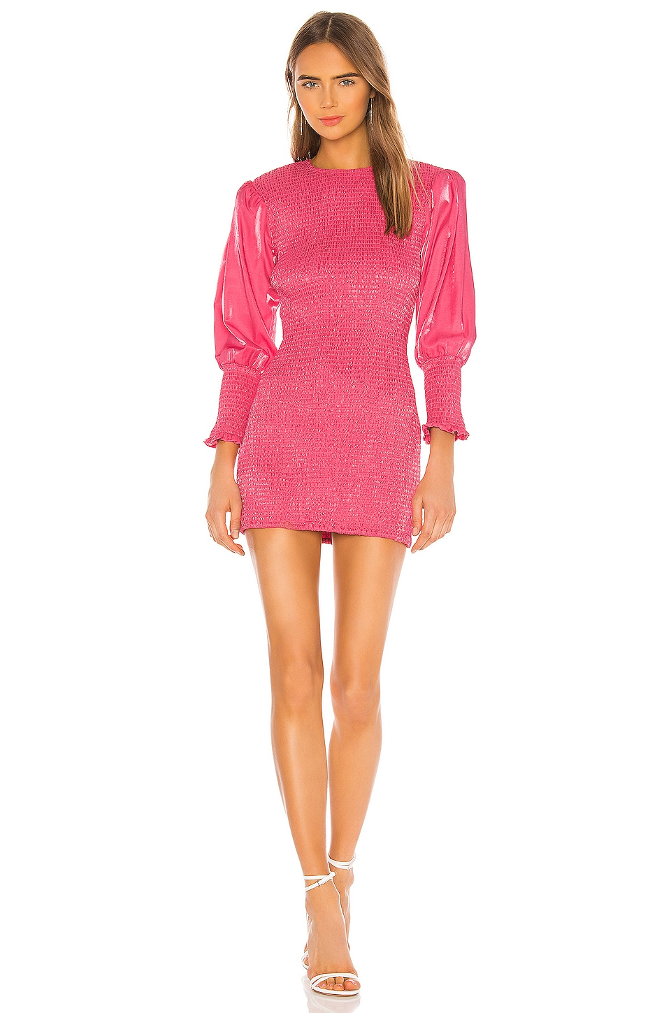 Lovers + Friends Helm Mini Dress in Hot Pink