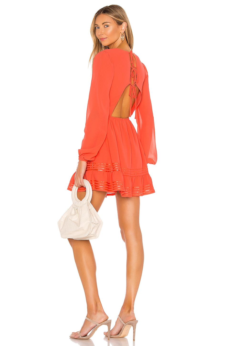Lovers + Friends Allister Dress in Coral Red
