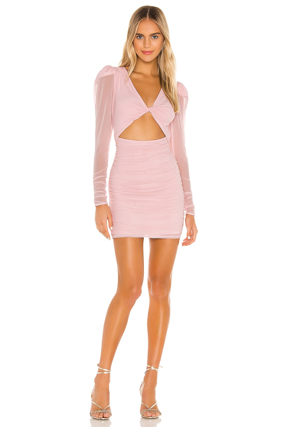 Lovers + Friends Celest Mini Dress in Ballet Pink