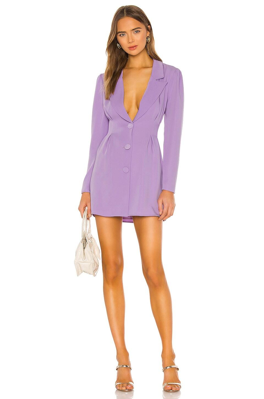 Lovers + Friends City Blazer Dress in Lilac Purple