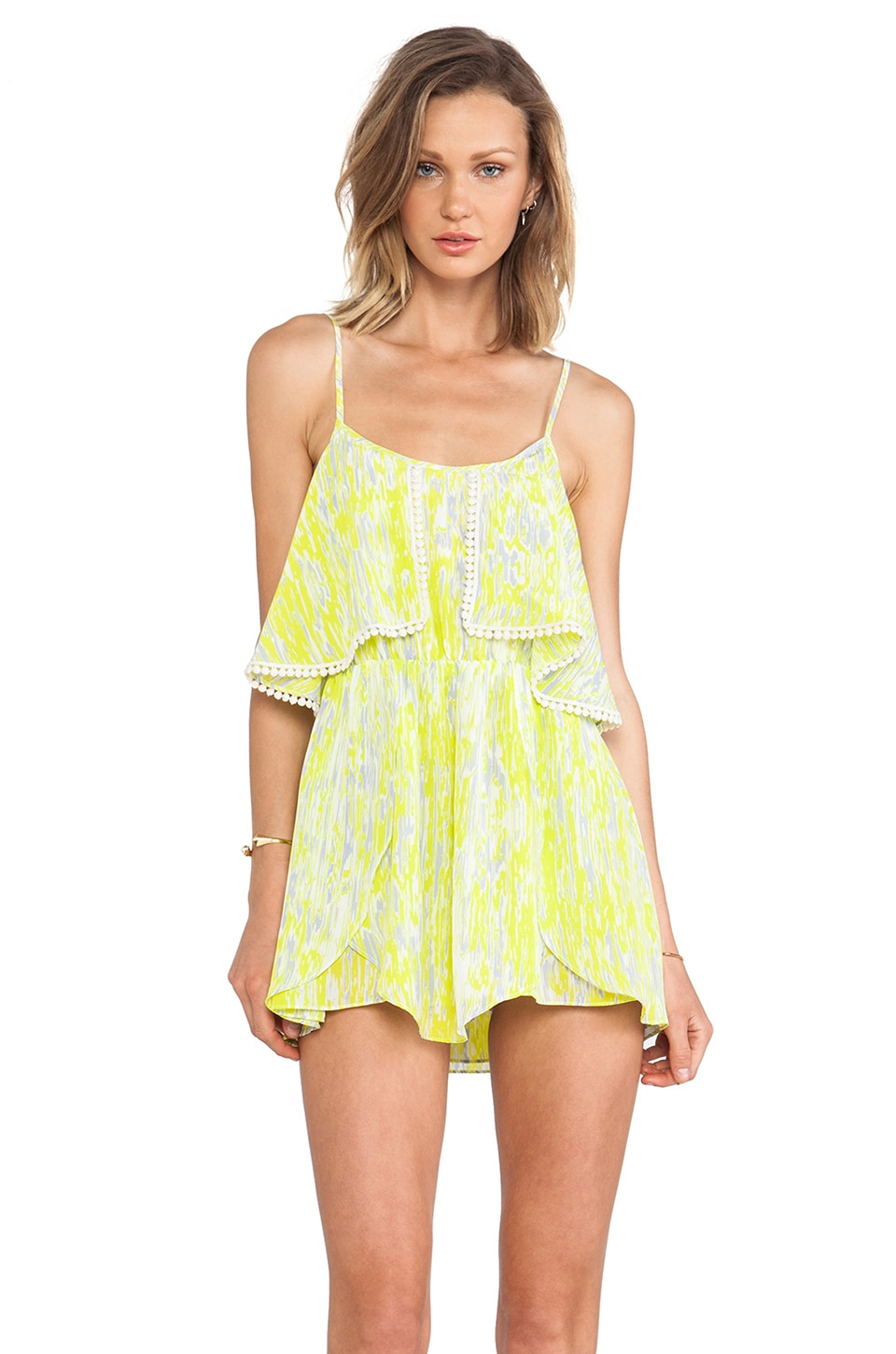 Lovers + Friends Aries Dress in Abstract Yellow