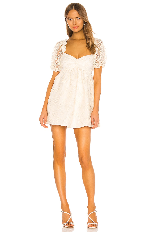 Lovers + Friends Vista Mini Dress in Cream