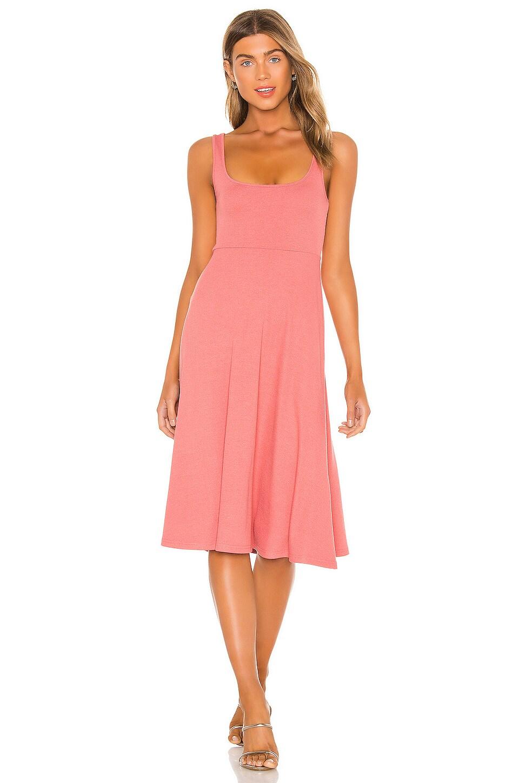 Lovers + Friends Milana Midi Dress in Dusty Rose