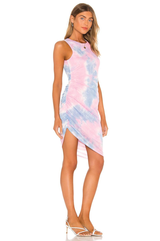 Lovers + Friends Eva Midi Dress in Pastel Tie Dye