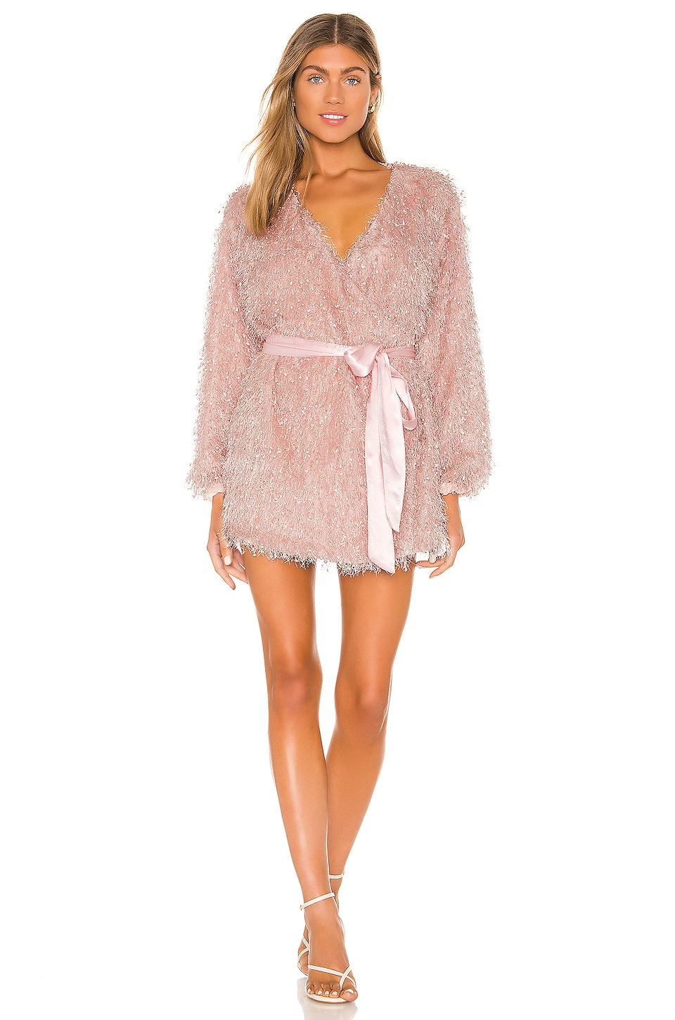 Lovers + Friends Fifth Avenue Mini Dress in Blush Pink