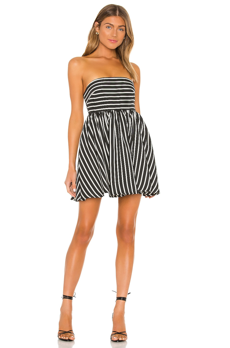 Lovers + Friends Wyatt Mini Dress in Black & Ivory
