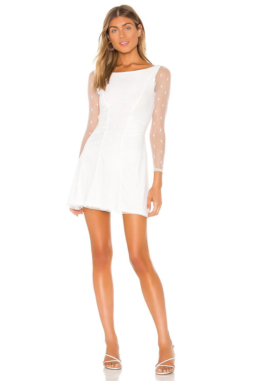 Lovers + Friends Addy Mini Dress in White Dot