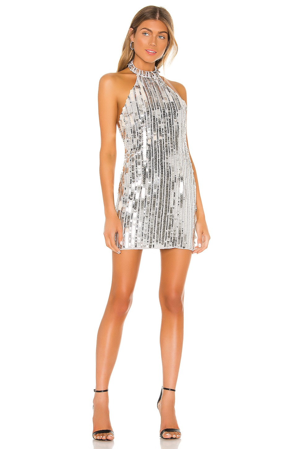 Lovers + Friends Harvey Mini Dress in Silver