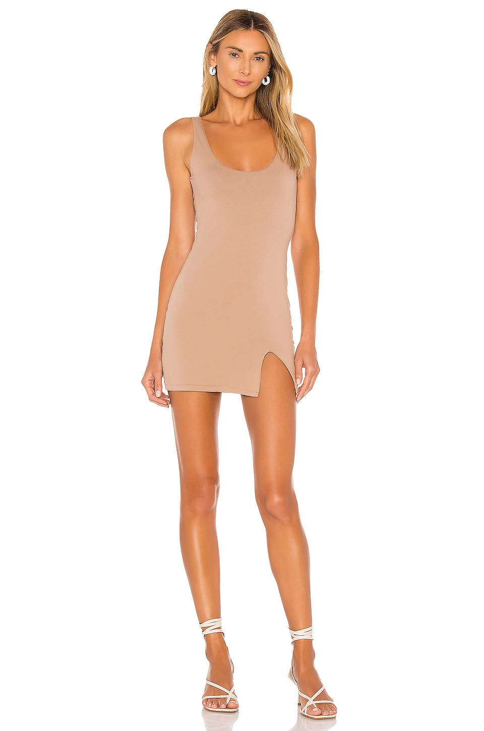 Lovers + Friends Paloma Mini Dress in Taupe Grey