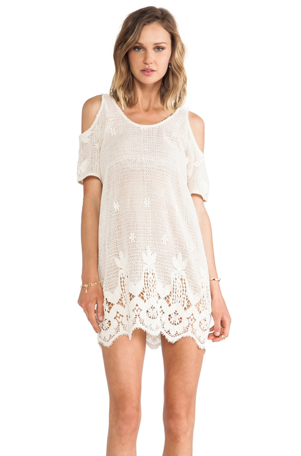 Lovers + Friends Weekend Tunic in Natural Lace